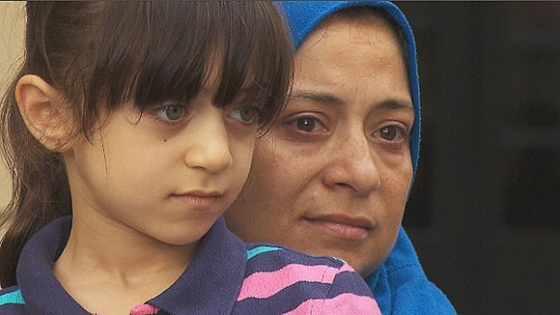 Samah Khalifa and daughter Aicha. Khalifa and her husband are scheduled to be deported to Egypt this week, and are now faced with the decision of whether to leave their Canada-born children here or to take them back to Egypt.