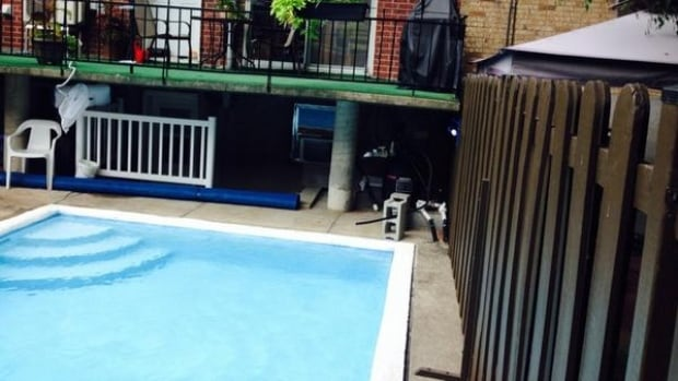 This is the backyard pool where a 13-month-old boy nearly drowned.