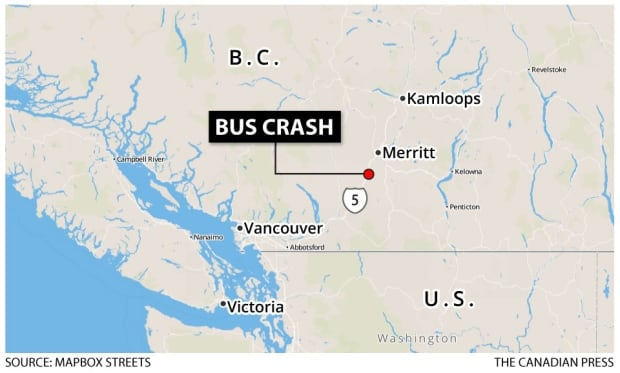 Coquihalla bus crash map