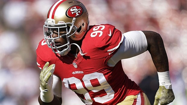 Aldon Smith has 42 sacks in three NFL seasons.