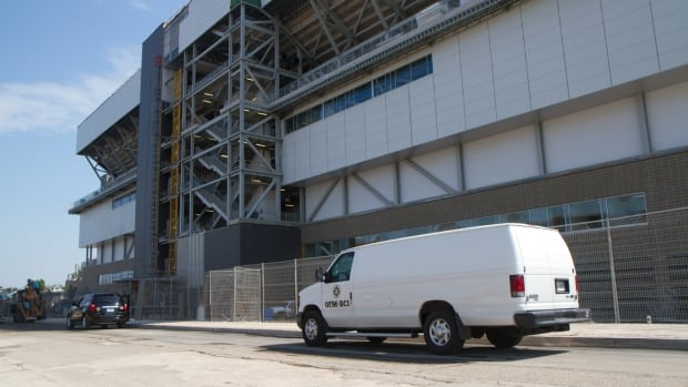 An inspector with the Ontario Fire Marshal was at Tim Hortons Field on Saturday investigating the cause of a fire in one of the stadium's mechanical rooms.