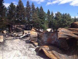 West Hawk Inn fire