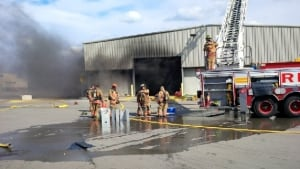 Hamilton Fire crews battle compost centre fire