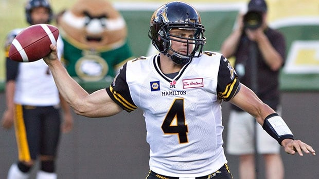 Hamilton Tiger-Cats quarterback Zach Collaros has been out since suffering a concussion in a 28-24 loss to Edmonton on July 4.