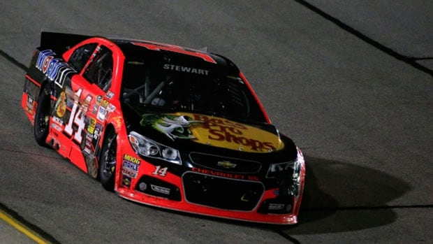 In his return to racing, Tony Stewart slammed the wall twice and settled for a dismal 41st-place finish at Atlanta Motor Speedway on Sunday, leaving him in a must-win situation next weekend at Richmond to make NASCAR's Chase for the Sprint Cup championship.