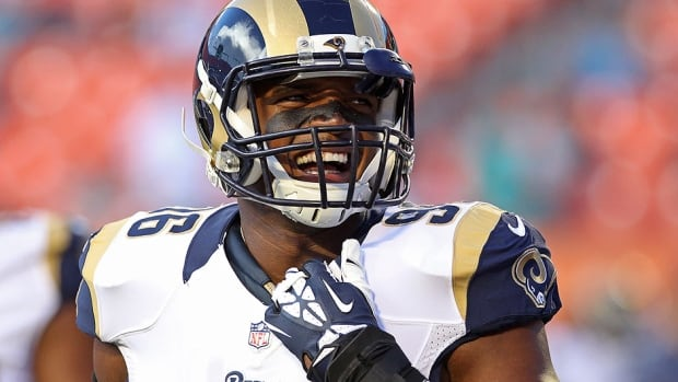 Defensive end Michael Sam is trying to become the NFL's first openly gay player but he was among the Rams' final cuts Saturday. Sam wasn't named to the team's practice roster and could choose to wait for another NFL offer or turn his sights north to the CFL.