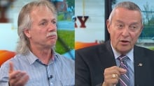 Jim Iker and Peter Fassbender spoke with CBC News' Andrew Chang - Sept. 1, 2014