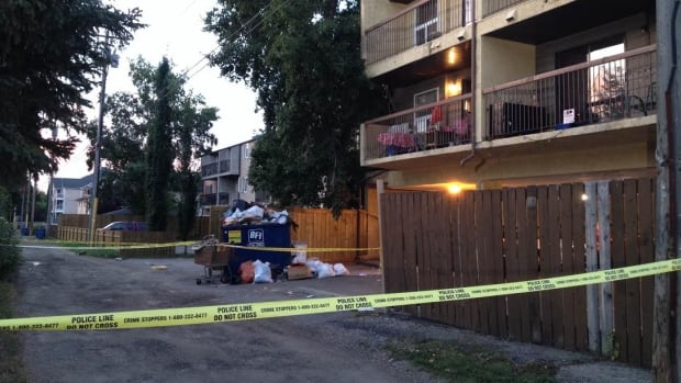 Police are investigating after a man was found with stab wounds outside an apartment building in Bowness late Monday night. He later died in hospital.
