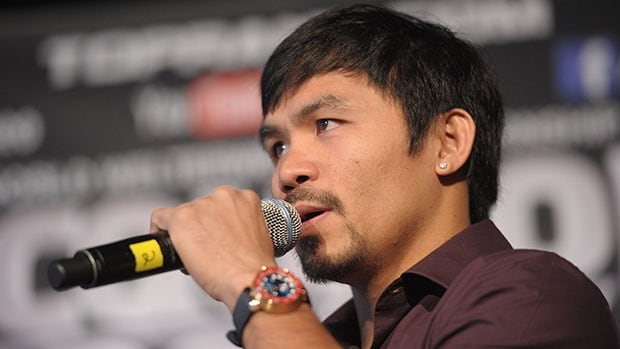 Manny Pacquiao's singing has mostly drawn chuckles from North American audiences.