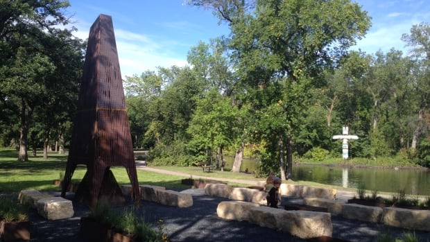 Part fire pit, part art installation, St. Vital Park unveiled big upgrades by Plain Projects and Urban Ink on Tuesday.