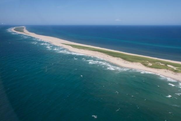 Sable Island aerial shot sandbar