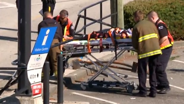 White Rock accident stretcher