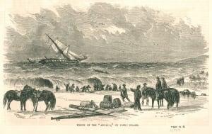 Sable Island shipwreck Arcadia