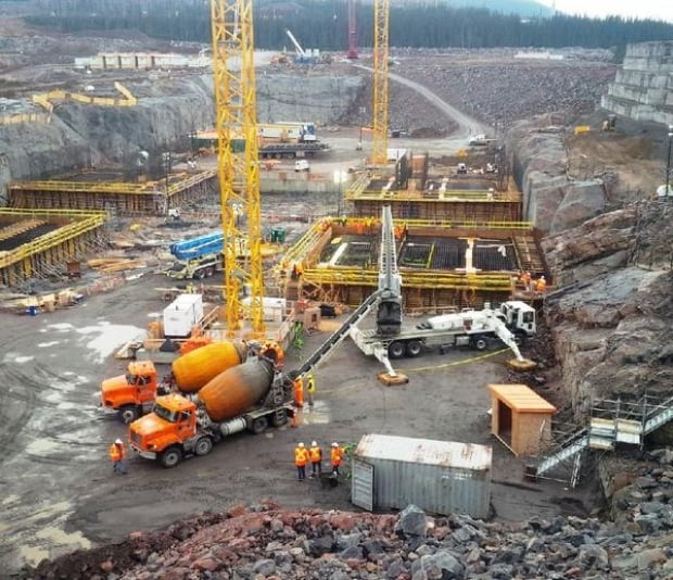 Muskrat Falls construction site
