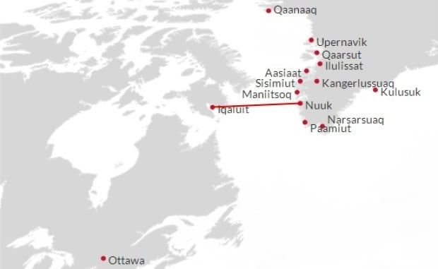 Iqaluit-Nuuk Air Greenland connection
