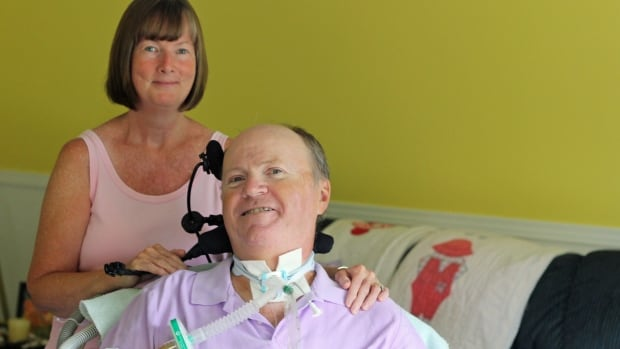 Dennis and Lorna Grey in their Guelph home. Dennis was diagnosed with ALS in January 2010.