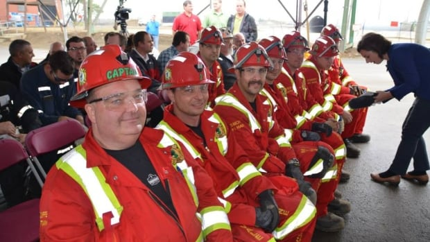 Vale's East Mines Rescue Team will compete in Poland at the International Mine Rescue Competition. Captain of the team, Lorne Plouffe, is seen on the left.