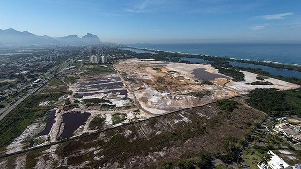 The proposed Olympic golf course under construction in a prime Rio de Janeiro location may be endangered by a Brazilian court ruling.