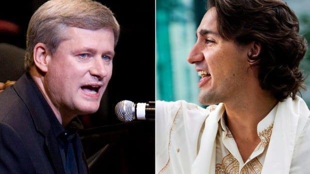 If Liberal Leader Justin Trudeau, right, is the hot indie band riding the a wave of hype, Stephen Harper is tour-hardened Nickelback, writes Harper's former spokesman Andrew MacDougall.