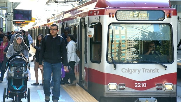 LRT lines, such as this one in Calgary, are the most cost effective way to expand rapid transit, a report by the Pembina Institute says.