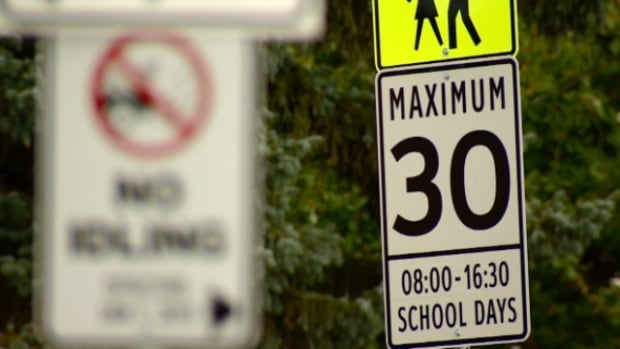 School zone speed limits of 30 km/hr went into effect on Tuesday.