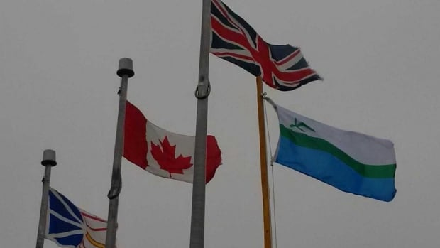 Residents in southern Labrador erected a flagpole and raised the Labrador flag at the Quebec-Newfoundland and Labrador border in September.