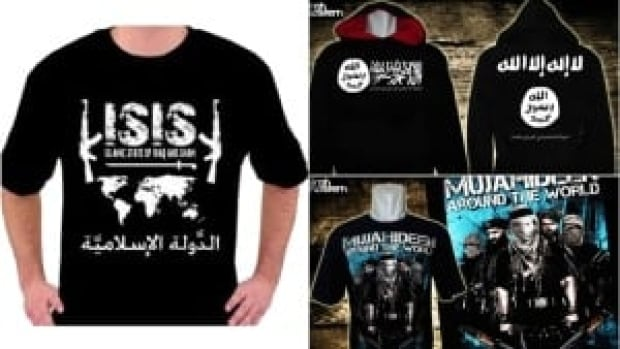 ISIS has made use of modern marketing tools including T-shirts, hoodies and posters to spread its radical message.