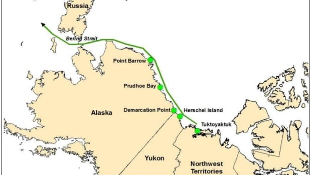 Ships from Tuktoyaktuk heading west towards the Pacific Ocean would encounter 'much more benign conditions than existed in past years,' says a report commissioned by Alberta that concludes sending oilsands bitumen to a port in the Arctic is feasible.