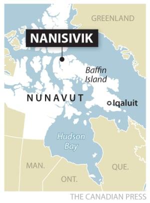 CP map Nanisivik Arctic naval facility