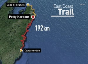 East Coast Trail too rugged for record hike attempt  Newfoundland