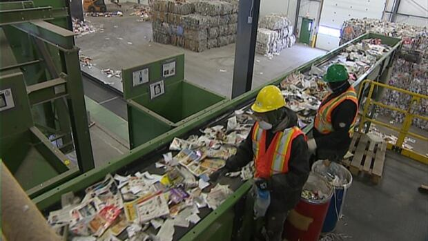 Emterra is paid by the tonne to process the city of Regina's recycling, including glass jars.