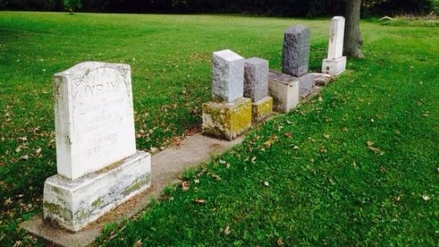 There are only five headstones left in the Smith Cemetery, but experts say more than 100 black Canadians are buried there.