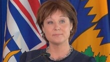 Protesters chant during Christy Clark Q&A RAW