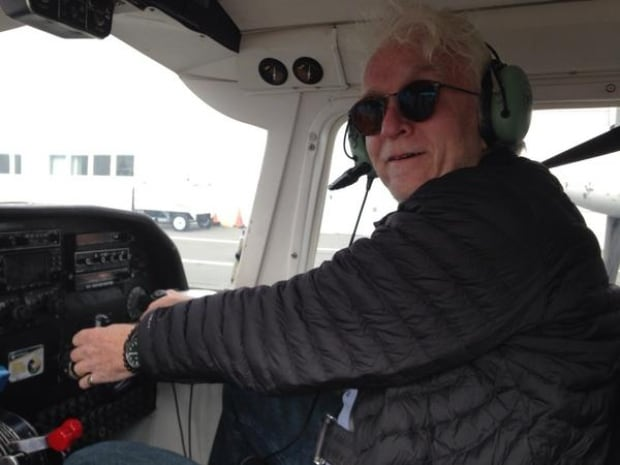 Don Connolly heading to Sable Island on plane at controls