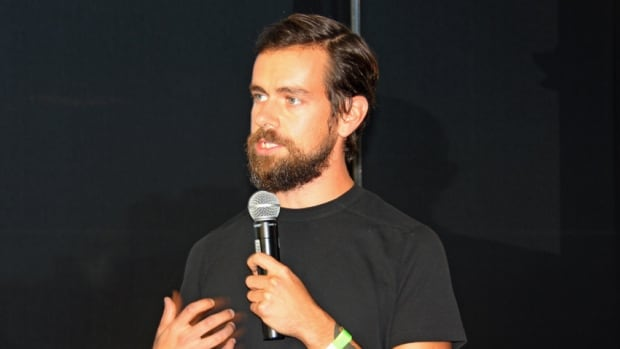 Square CEO Jack Dorsey welcomes the crowd to the opening of Square's Canadian office in Kitchener.