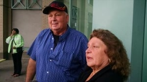 Natasha Montgomery's family members outside court - Sept. 11, 2014