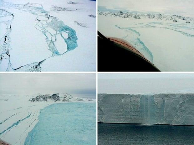 Larsen B ice shelf aerial photos