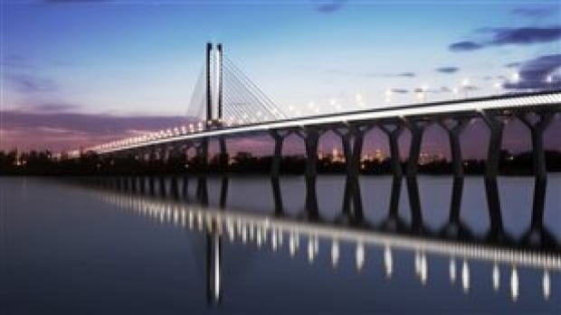The federal government has said that drivers will have to pay a toll when they cross the new Champlain Bridge, set for completion in 2018.