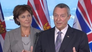 Christy Clark and Peter Fassbender answer questions on tentative agreement, Sept. 16, 2014
