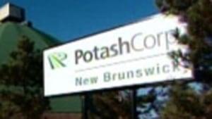 PotashCorp N.B. sign