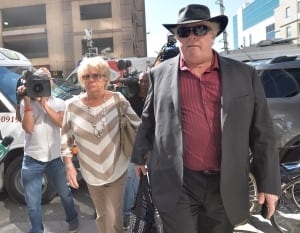 Diane Ford, Randy Ford arrive at Mount Sinai Hospital