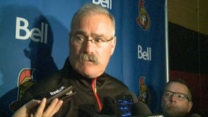 Paul MacLean at Ottawa Senators training camp