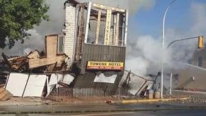 Cat survives hotel collapse