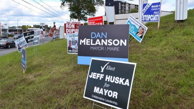 Candidates in Sudbury's 2018 municipal election won't be able to put up election signs until the nomination period closes on July 27.