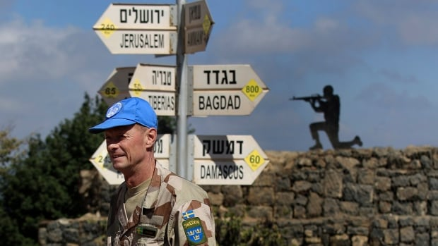 U.N. peacekeepers observe Syria's Quneitra province at an observation point in the Israeli-controlled Golan Heights. Israeli leaders appear increasingly nervous about the possibility of al-Qaida-linked fighters occupying the Golan's high ground over northern Israel.