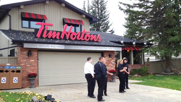 Neighbours woke up to discover a Calgary home had become a Tim Hortons.