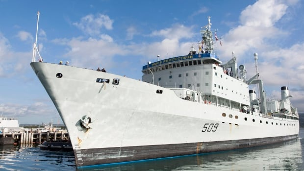 HMCS Protecteur, one of the Royal Canadian Navy's two aging supply ships, was forced into retirement last month.