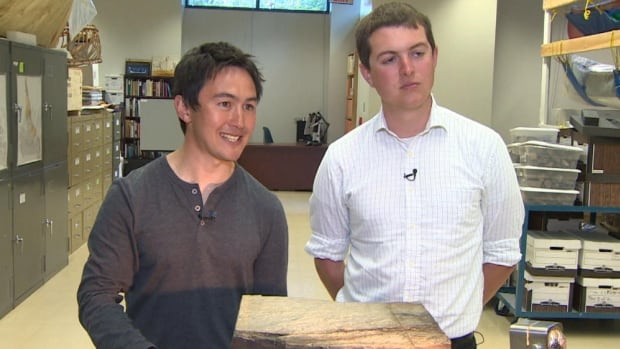 Alex Liu, left, and Jack Matthews say the discovery of the Haootia quadriformis impression showcases a need to revisit significant archeological sites and search for more possible previously-missed finds.