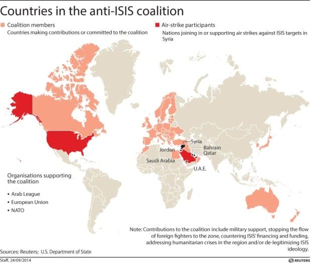 Anti-ISIS map