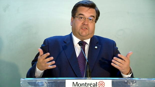 Mayor Denis Coderre denies telling a police officer writing him a ticket that he was her 'future boss.' He announced Tuesday he will appear before the Chamberland commission next month.